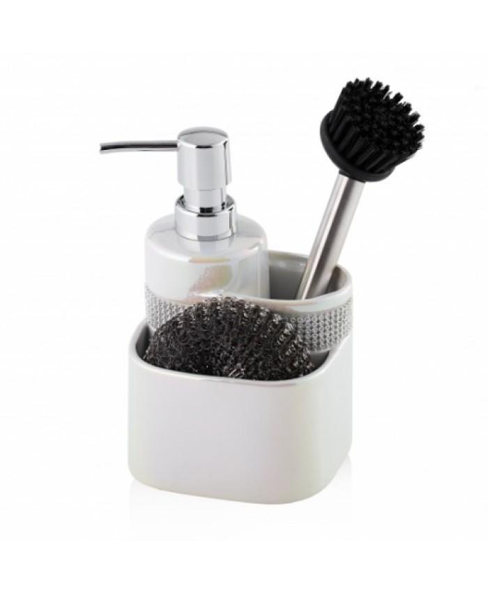 Dispozitiv pentru sapun cu bureta si perie GLOSSTA